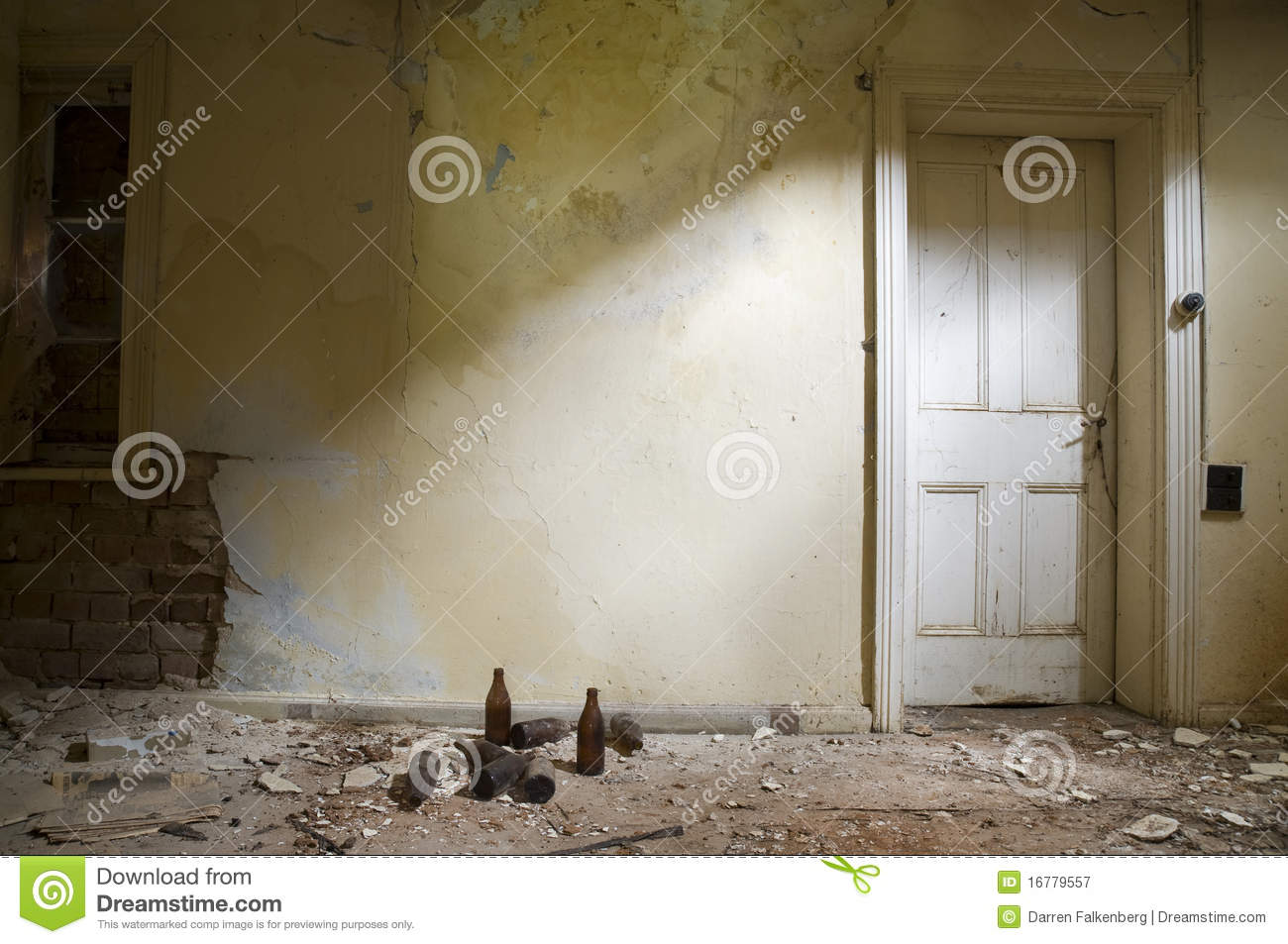 Abandoned Room With Door Stock Image Image Of Damage