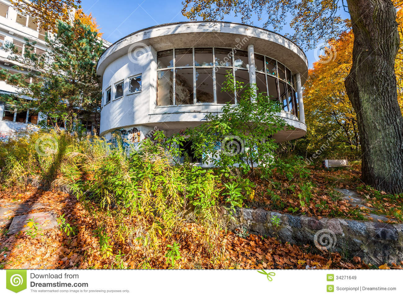 Gdynia Poland  city photos gallery : Abandoned Sanatorium Orlowo Gdynia, Poland Royalty Free Stock Images ...