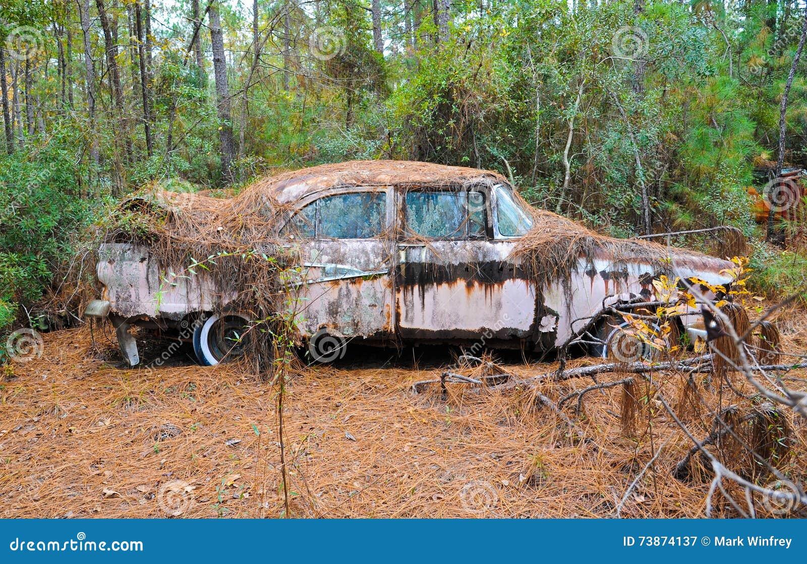 Abandoned Scrap Car stock image. Image of automobile - 73874137