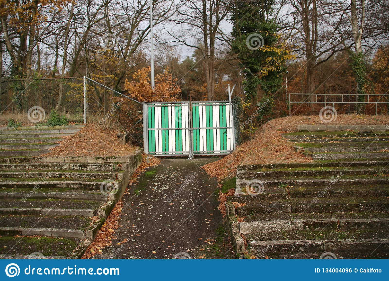 Abandoned soccer stadium in Wageningen named Wageningse Berg