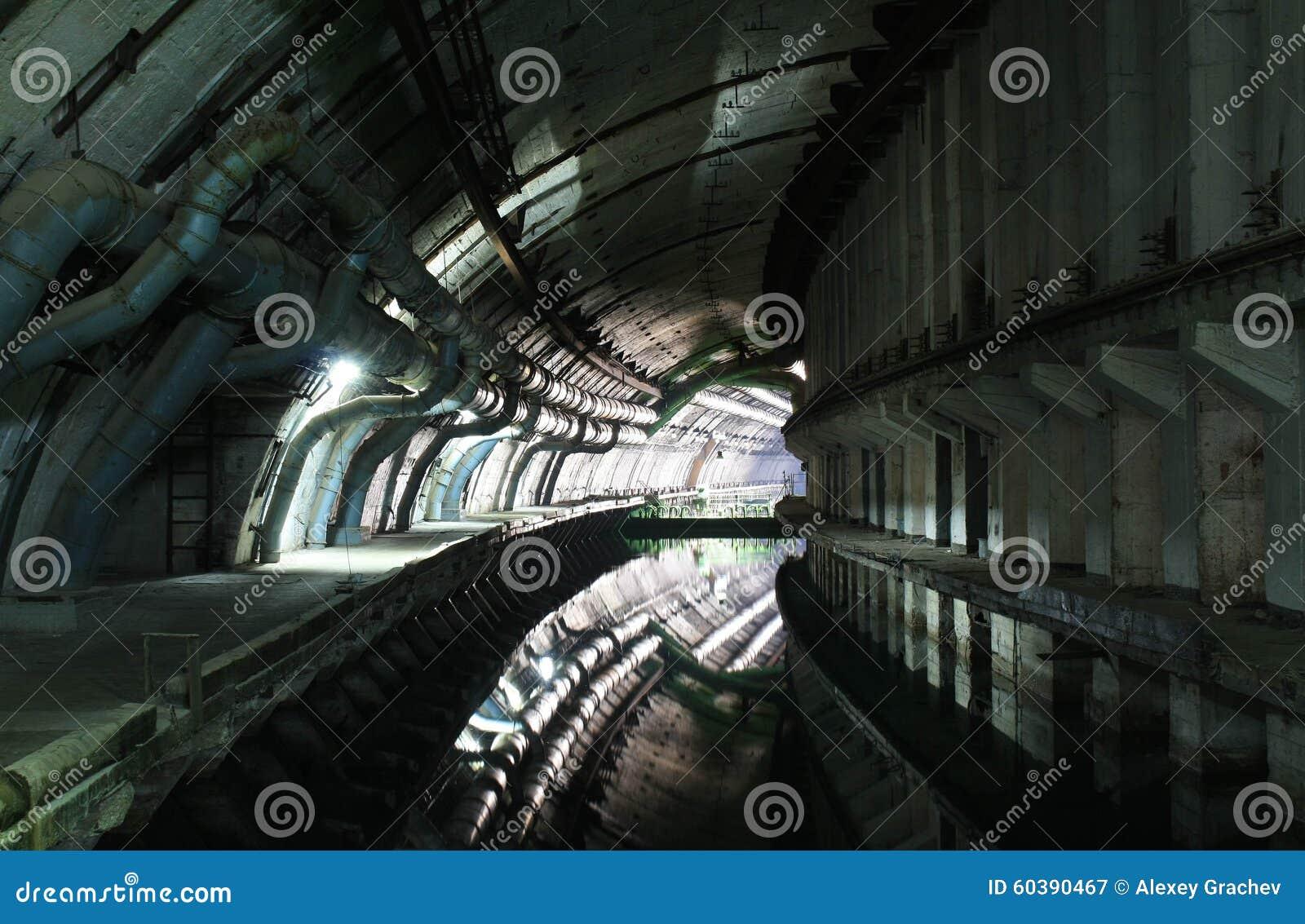 Underground Military Bases For Sale Abandoned Soviet Military Base Of Submarines Stock Photo Image