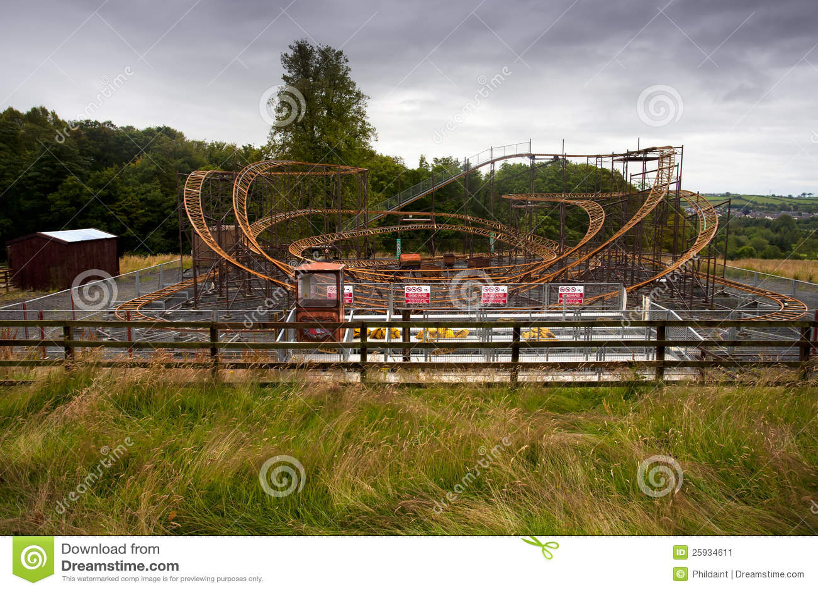 Abandoned Theme Park Stock Image Image Of Railing Wood 25934611