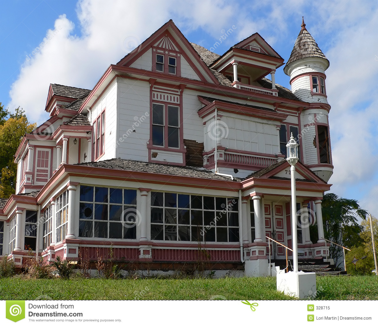 Abandoned Victorian House Stock Image. Image Of Historic