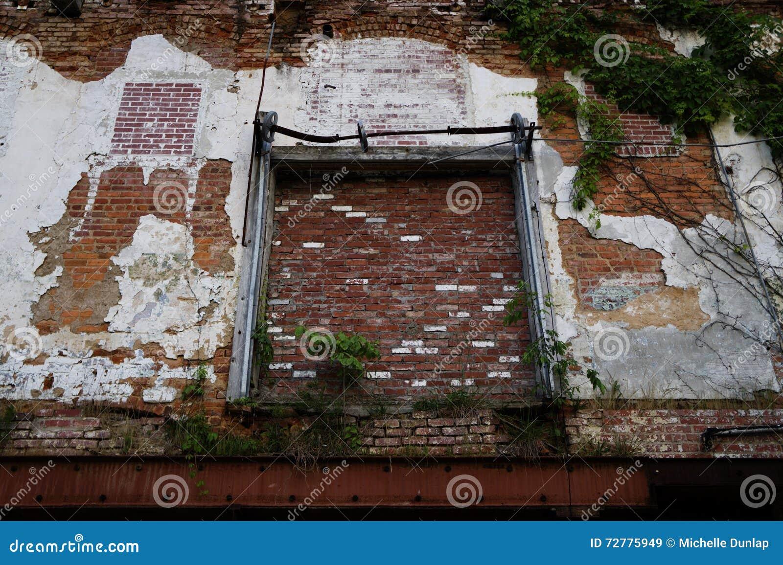 Abandoned Warehouse Exterior Brick Wall Stock Image Image 72775949