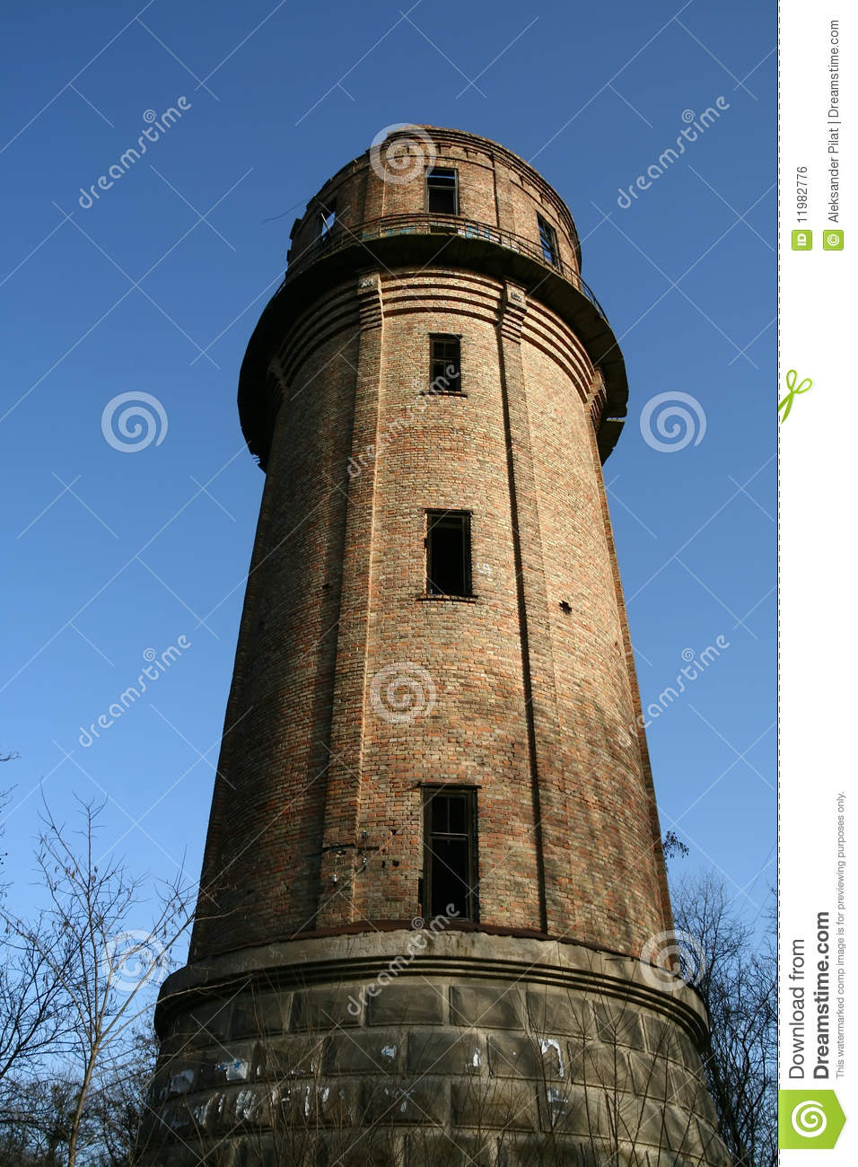 abandoned water tower royalty free stock image