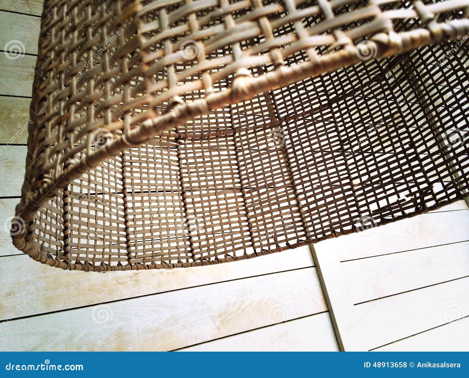 abat jour en osier rustique photo stock image 48913658