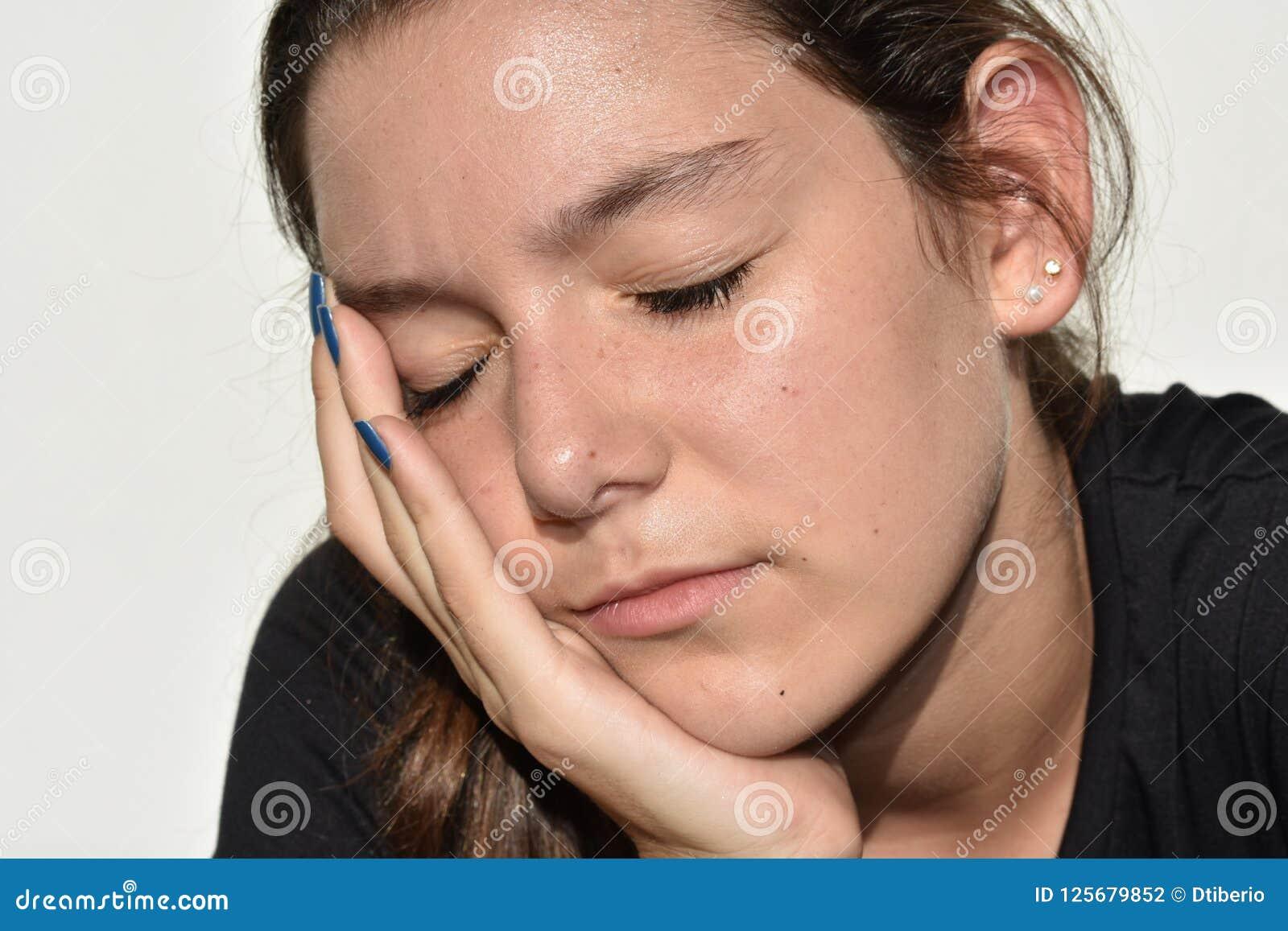 Abbastanza femminile sonnolento