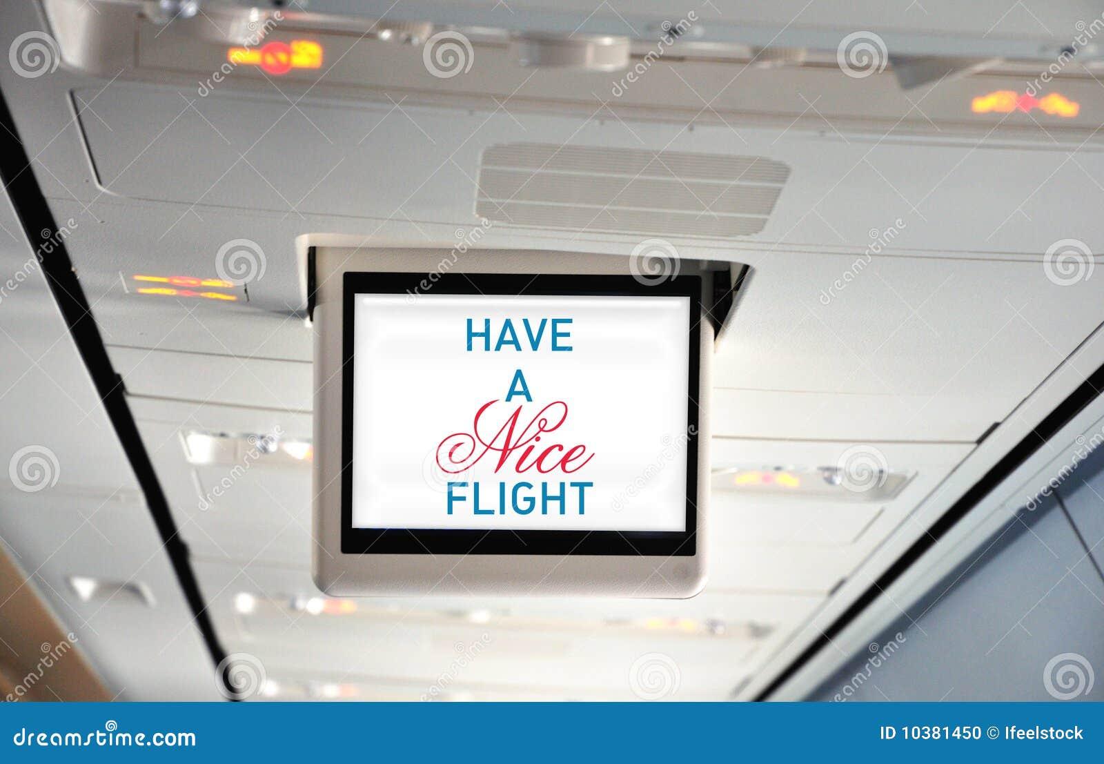 Abbia un volo piacevole