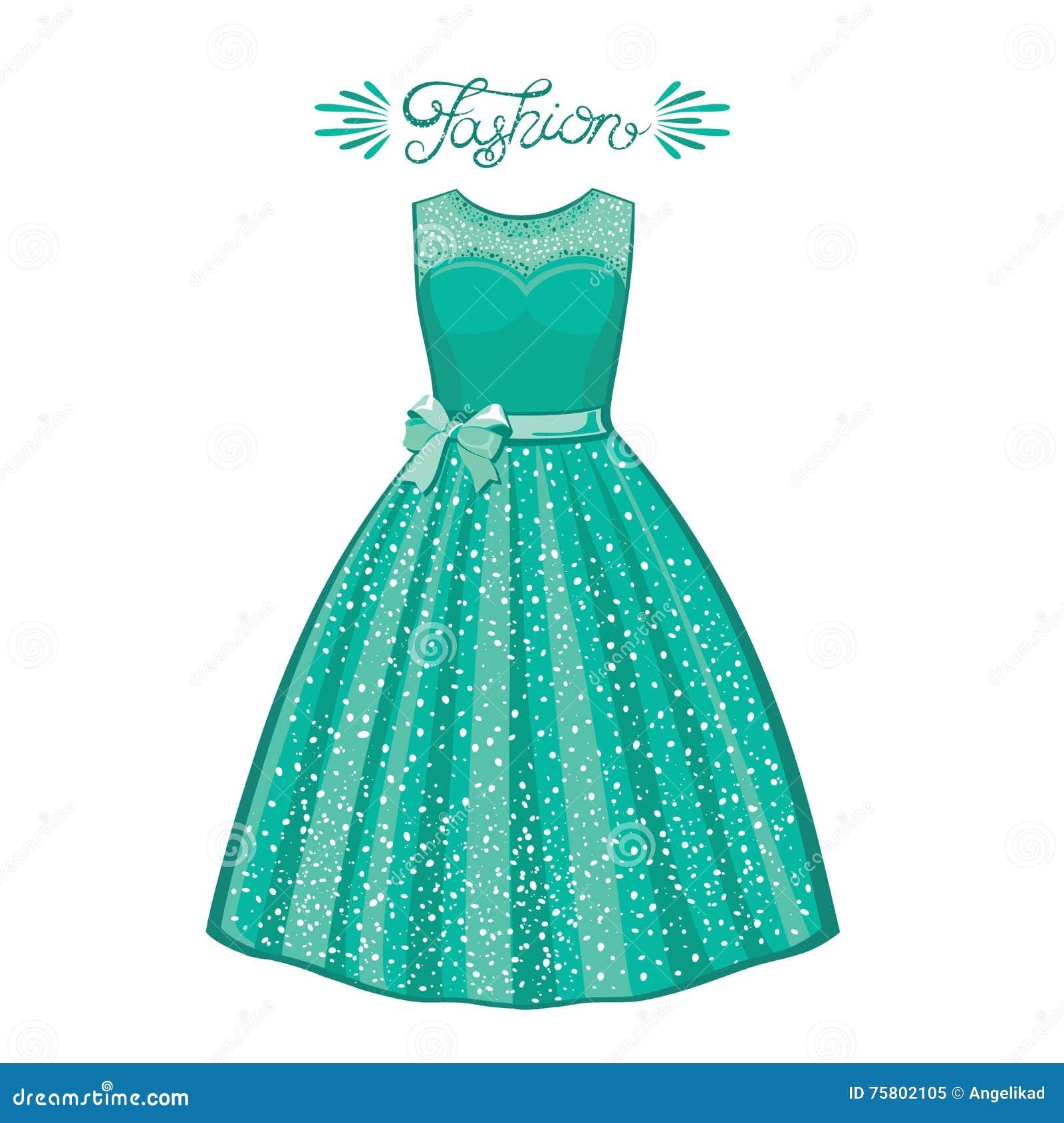 fe8d0e221676 Abbigliamento alla moda e d avanguardia dell illustrazione Illustrazione di  modo Vestito da cocktail