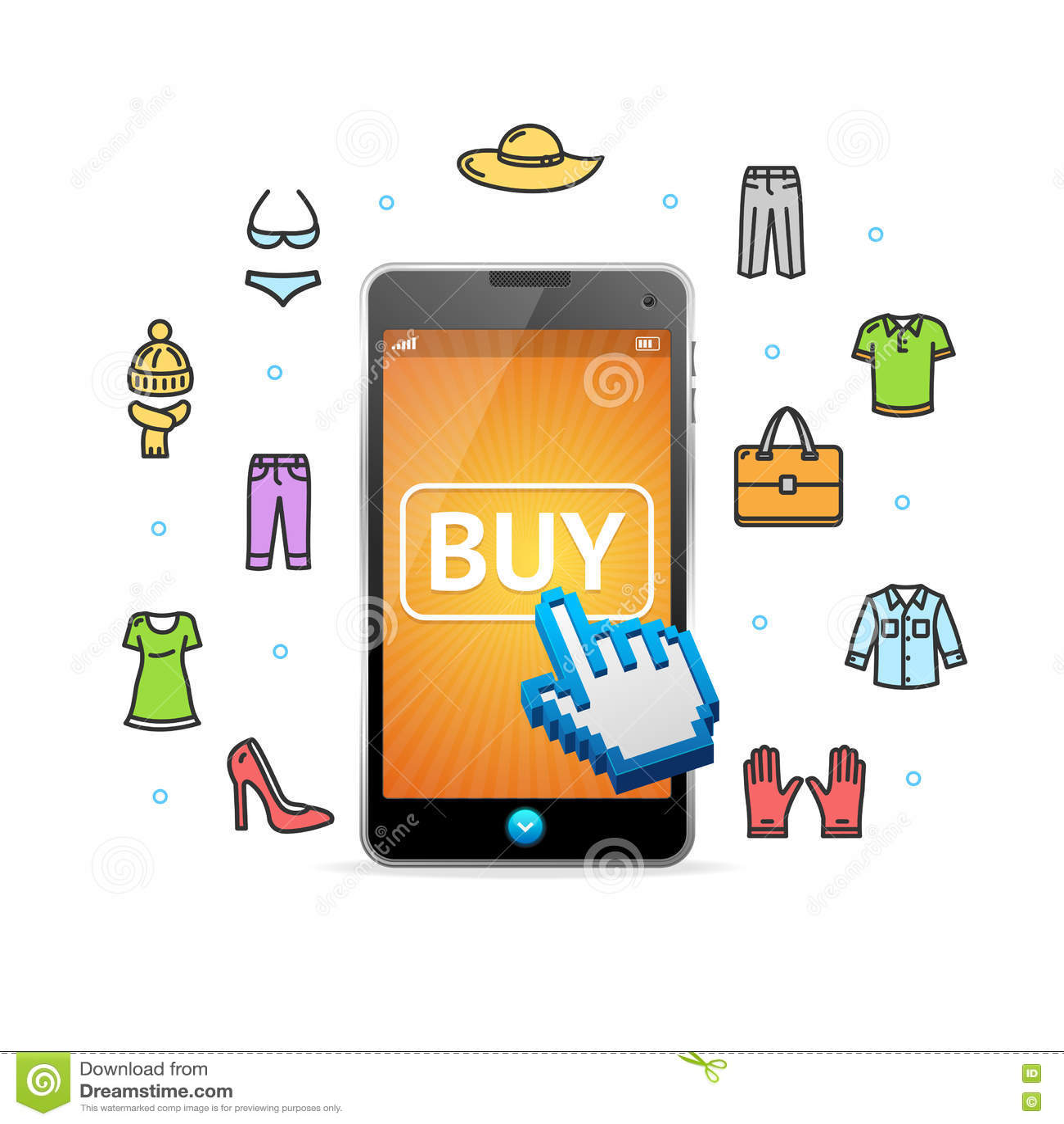 best service 69710 690c7 Abbigliamento Online Di Acquisto Con Il Cellulare App ...