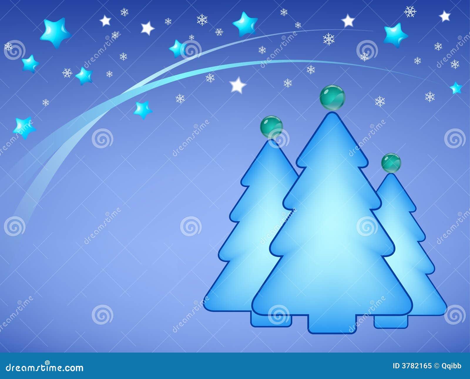 Abbildung der Weihnachtsbäume