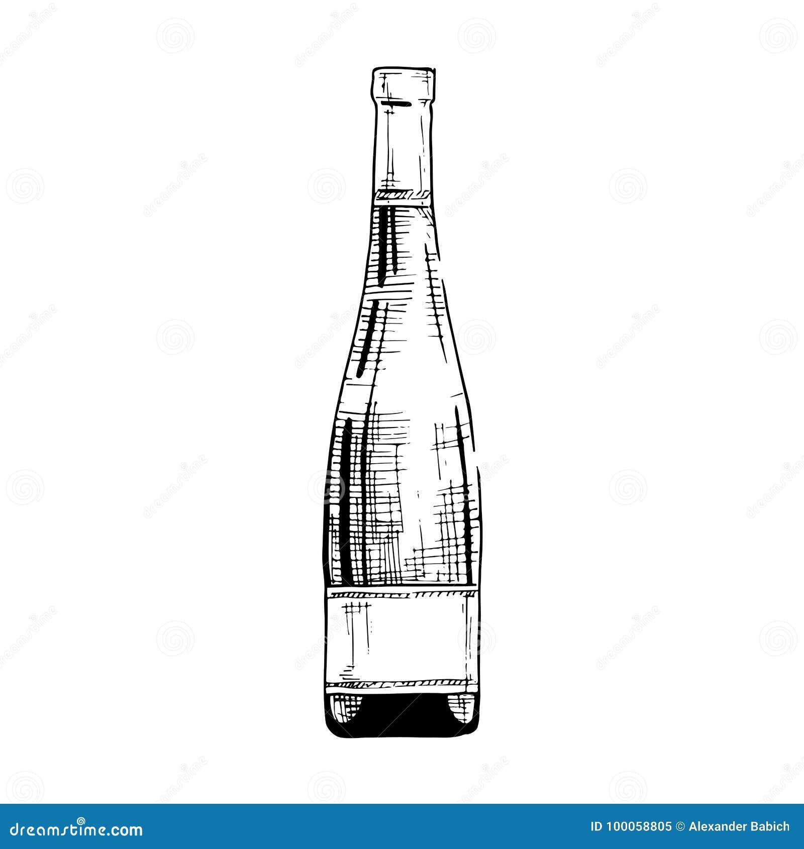 Abbildung der Weinflasche