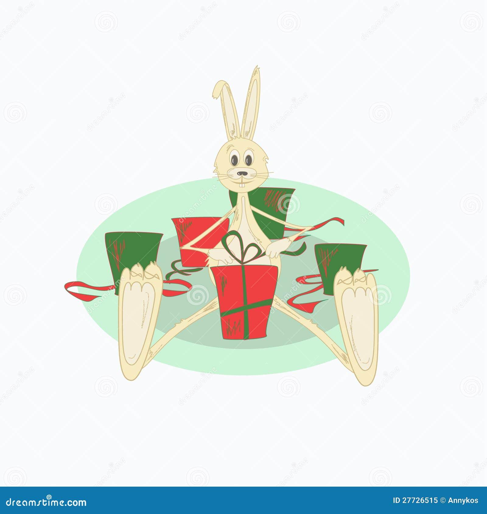 Abbildung des Weihnachtskaninchens