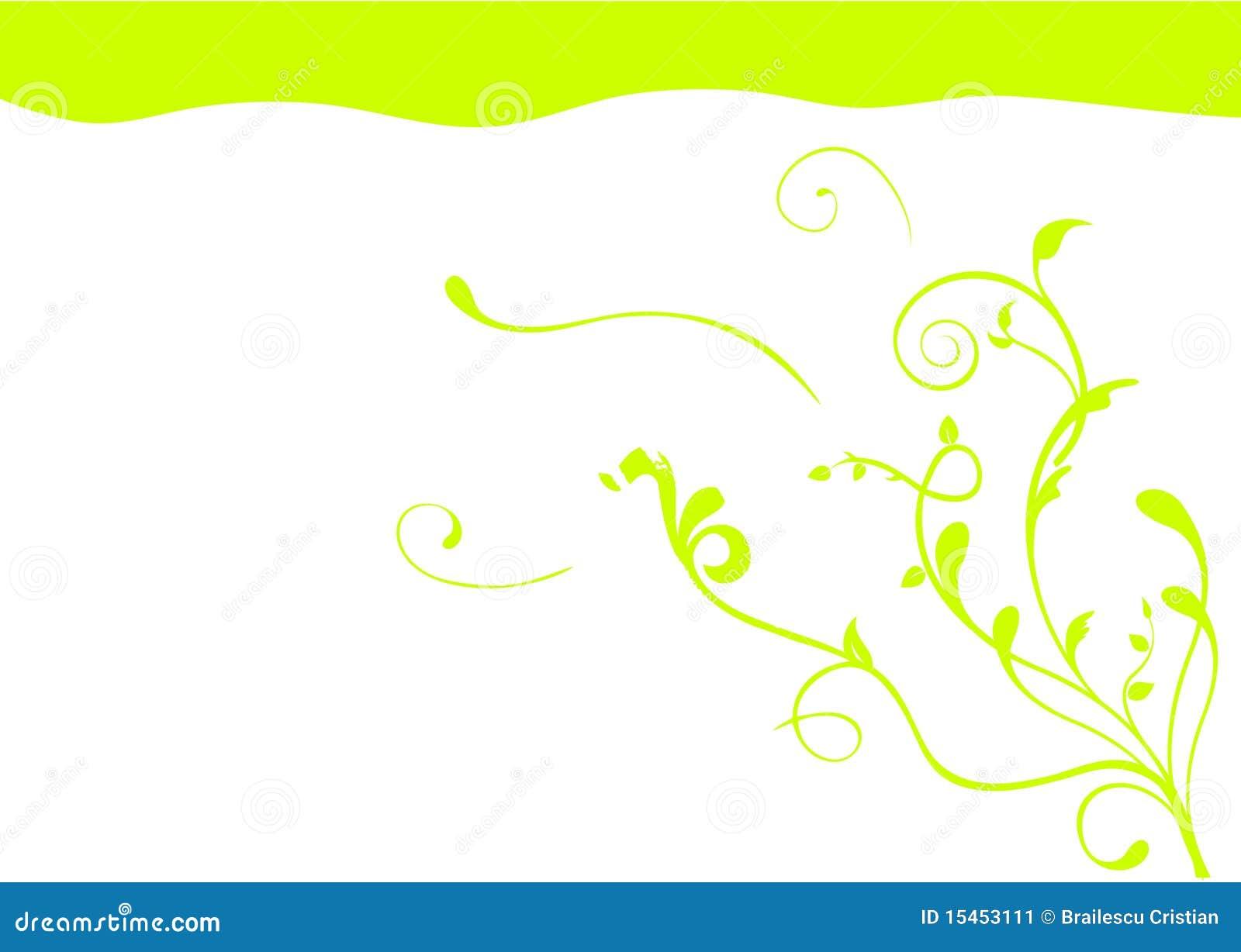 Abbildung eines abstrakten grünen Hintergrundes