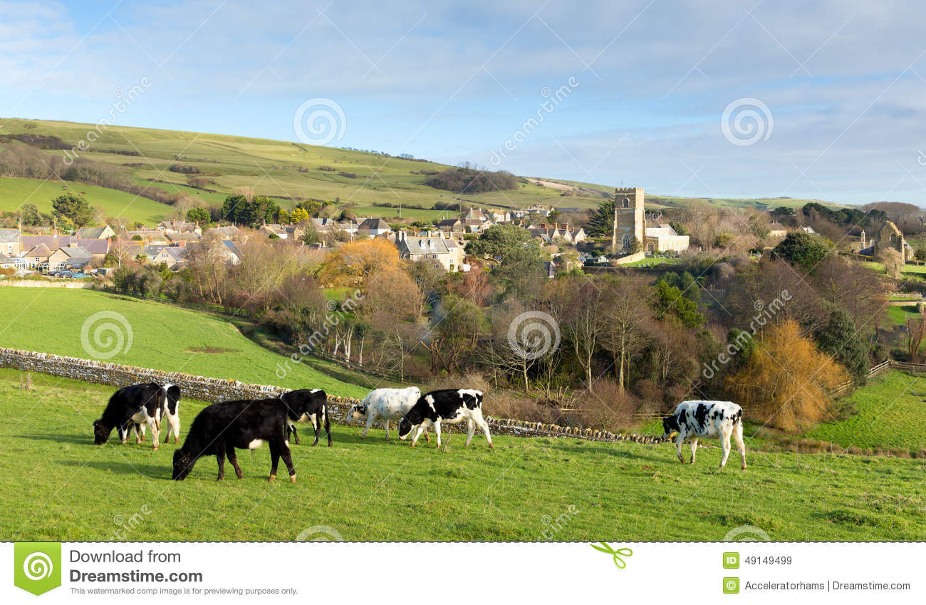 Abbotsbury Dorset England UK English Village In The Countryside Stock ...