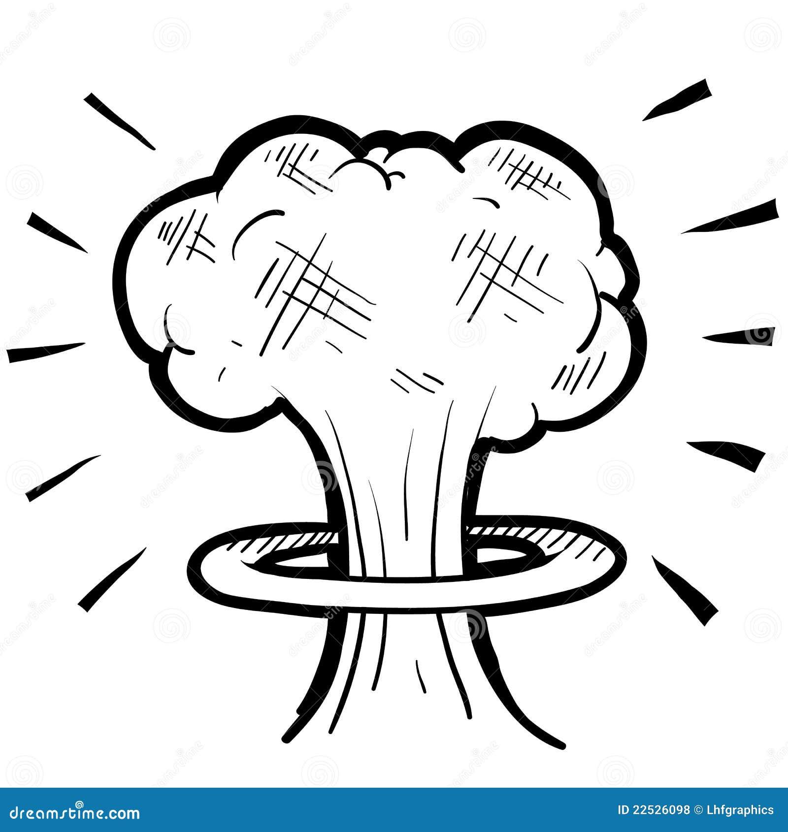 abbozzo nucleare del fungo atomico illustrazione