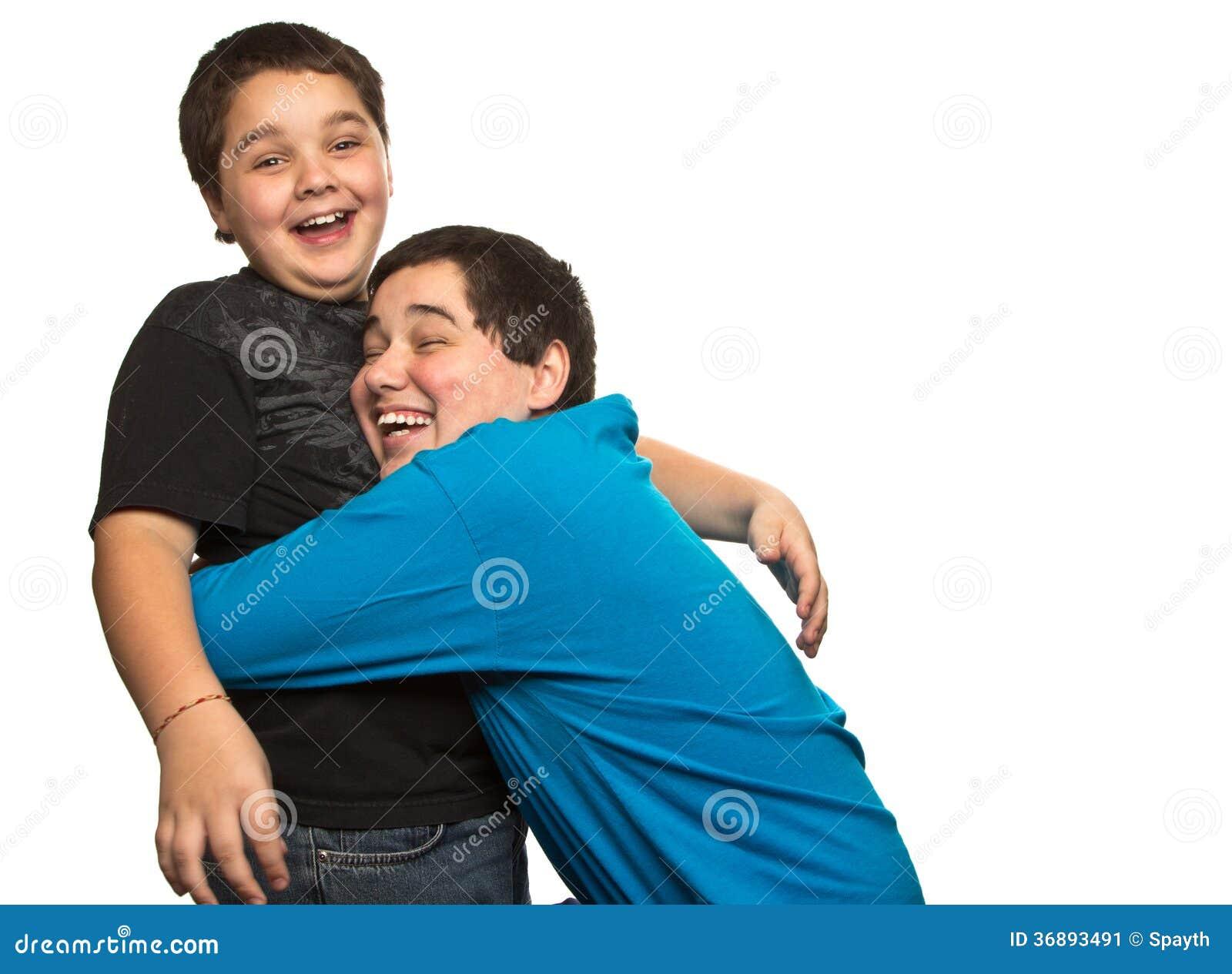 Download Abbraccio di sorpresa immagine stock. Immagine di divertimento - 36893491