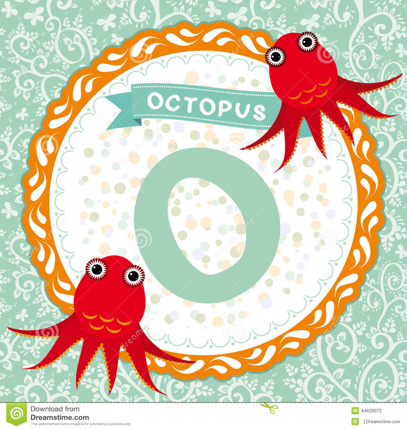abc儿童:o是鲸鱼动物的英语字母表.飞翔吧章鱼内容简介图片
