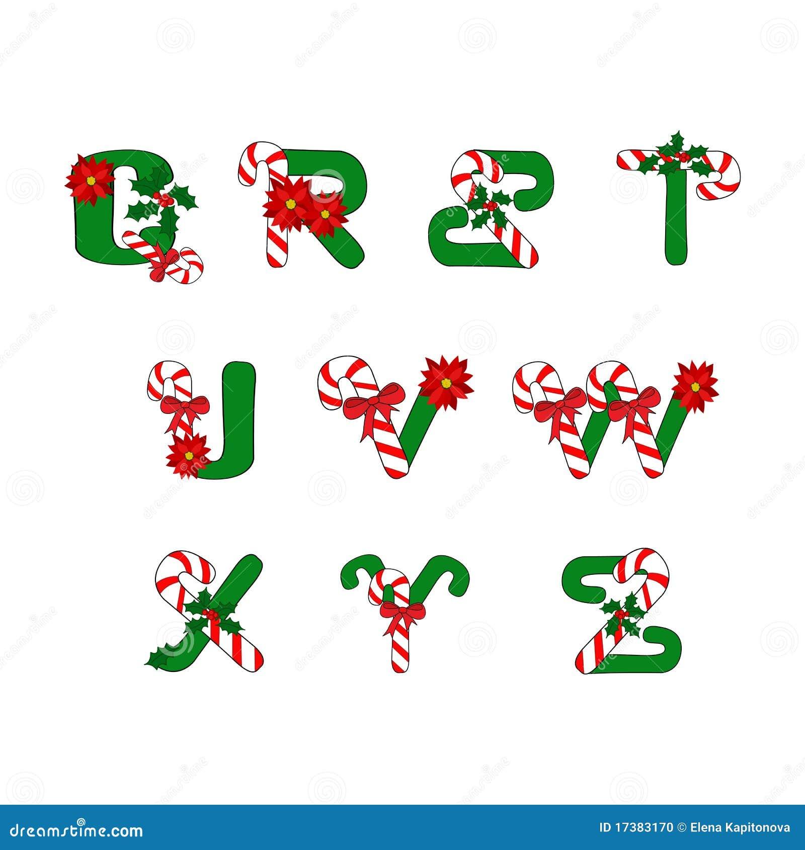字母表糖果圣诞节节假日符号.图片
