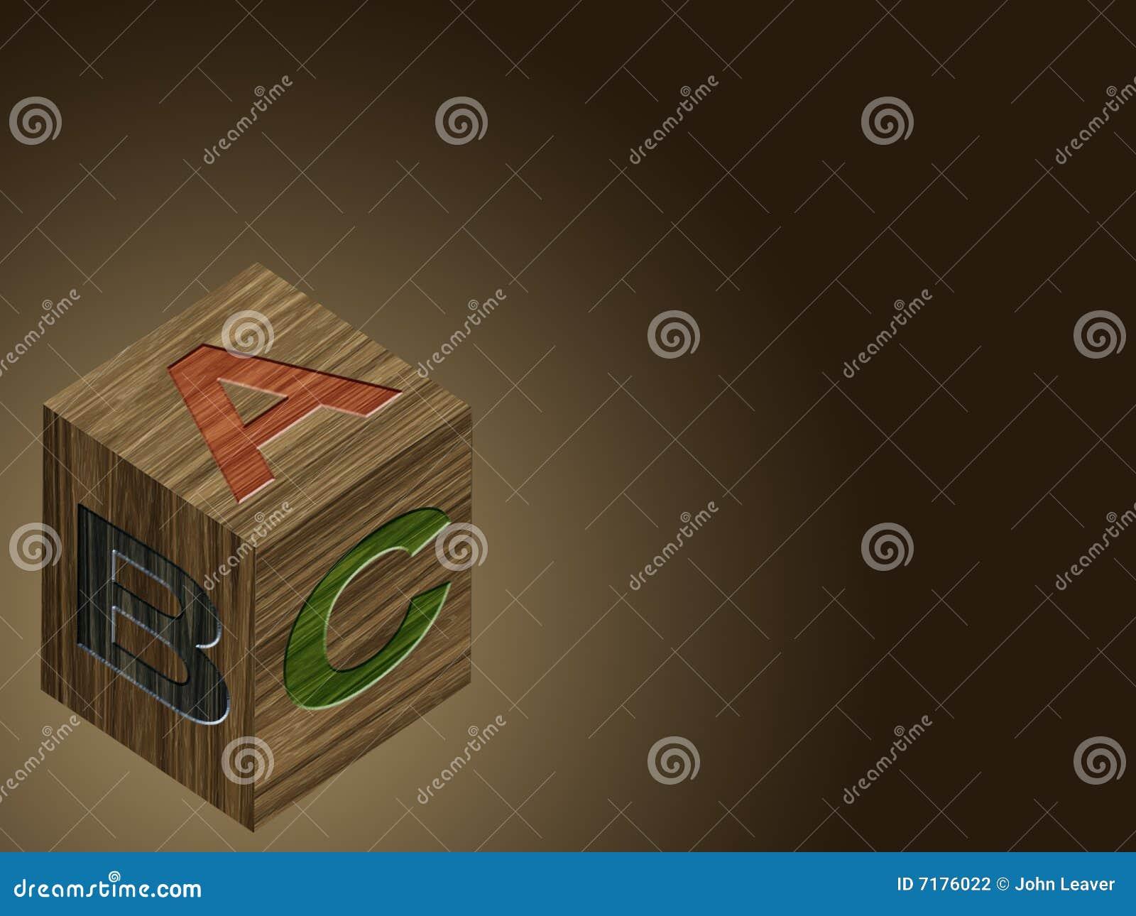 Abc ομάδα δεδομένων ξύλινη