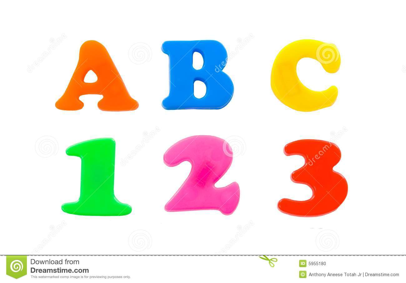 ABC 123 Stock Photo - Image: 5955180