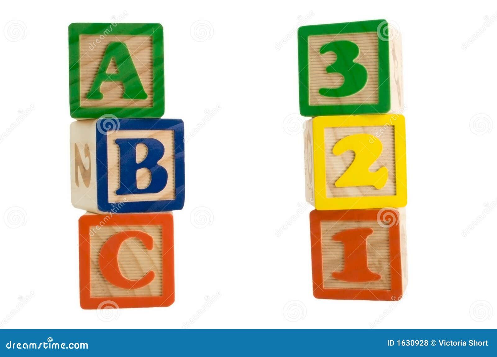 ABC 123 Blocks Royalty Free Stock Photos - Image: 1630928