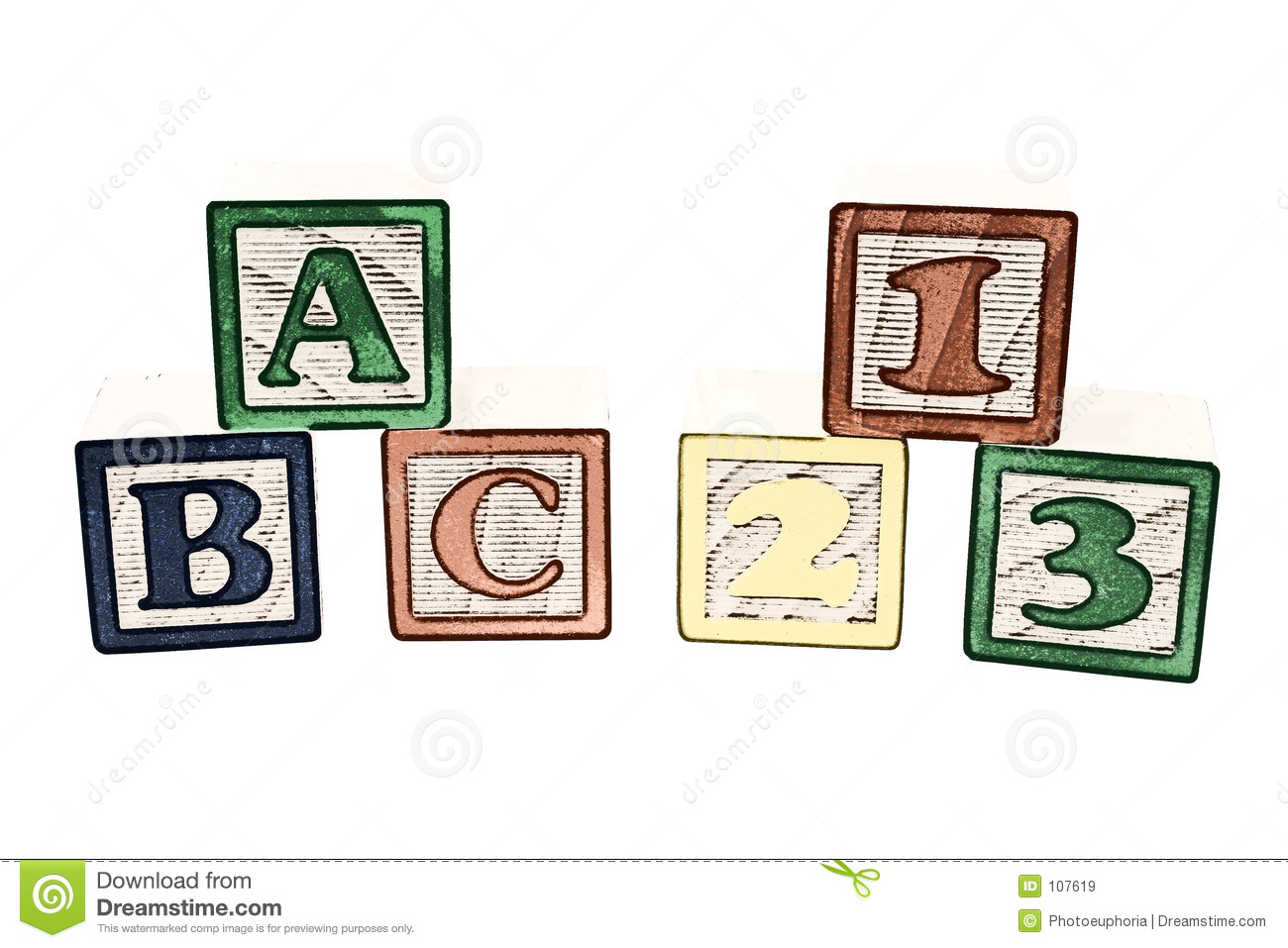 ABC And 123 Blocks Illustration Royalty Free Stock Images ...