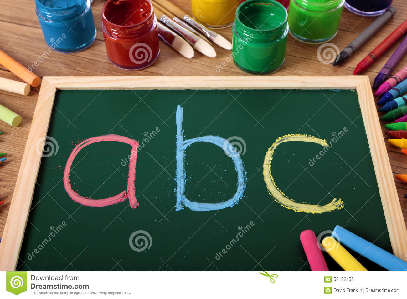 ABC Alphabet Chalk Blackboard Preschool Reading And Writing Lesson