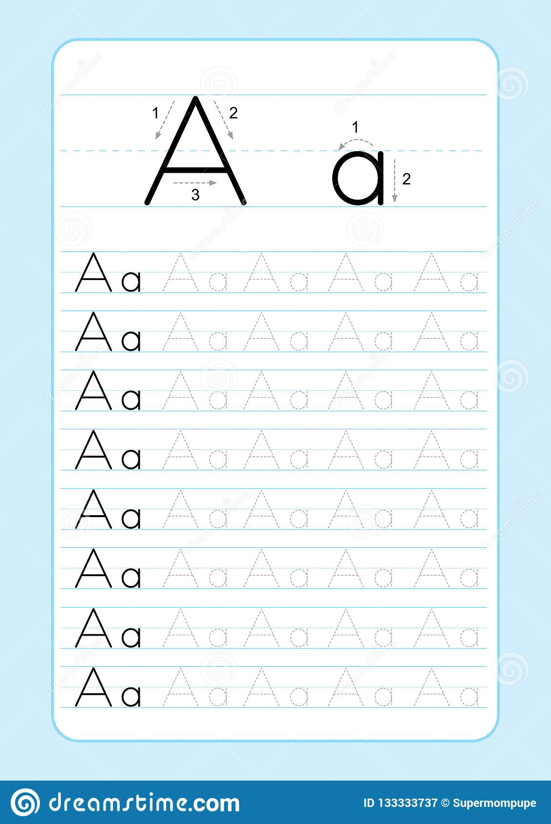 ABC Alphabet Letters Tracing Worksheet With Alphabet Letters. Basic ...