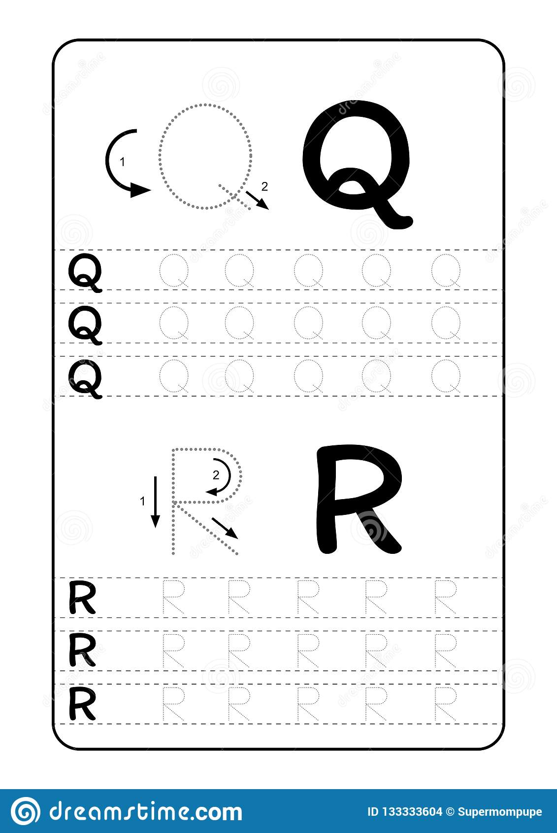 ABC Alphabet Letters Tracing Worksheet With Alphabet ...