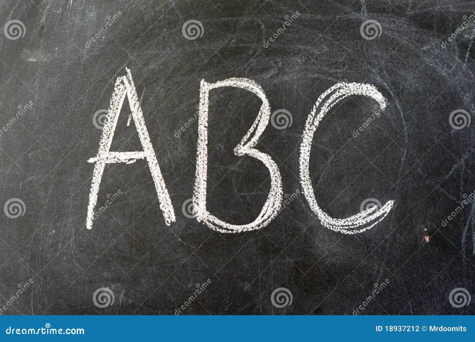 ABC Auf Einer Schule Tafel Stockfotografie   Bild  18937212