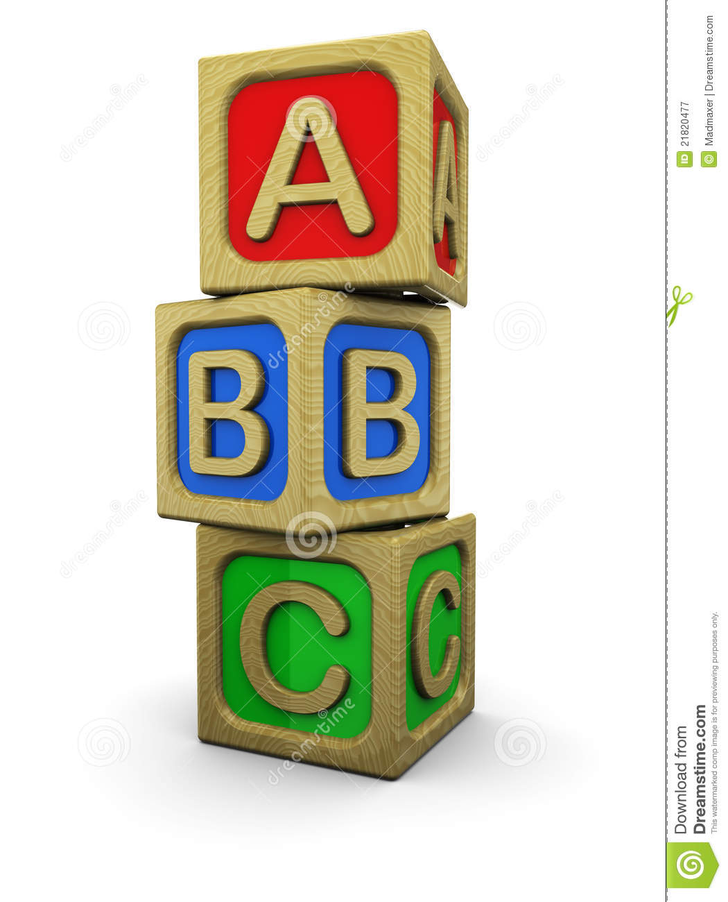 Abc blocks stock illustration. Image of early, preschool ...