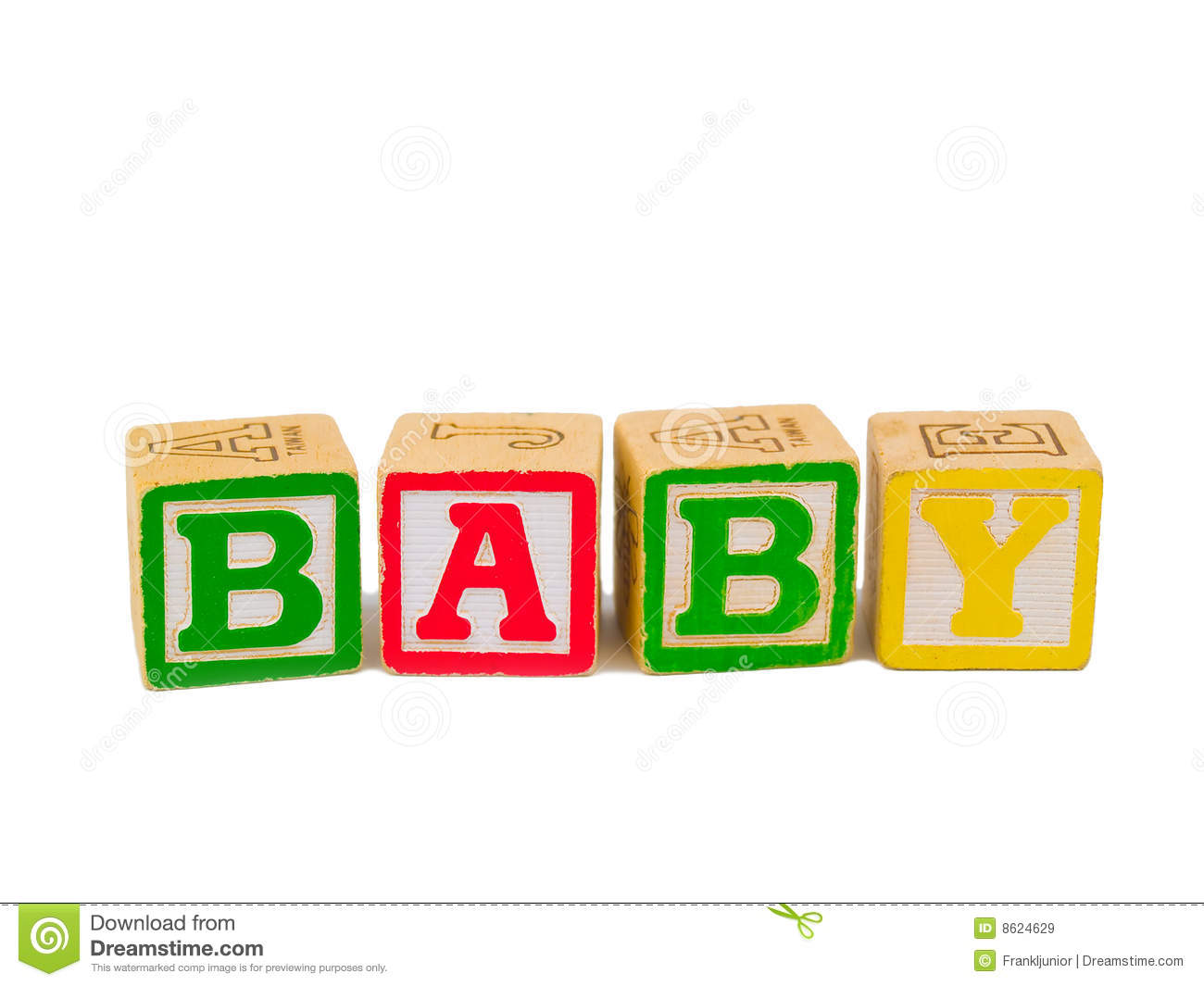 ABC Blocks Spelling BABY Royalty Free Stock Images - Image: 8624629