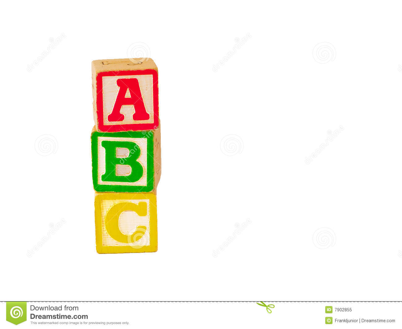 Abc Blocks Stacked Playing Stack