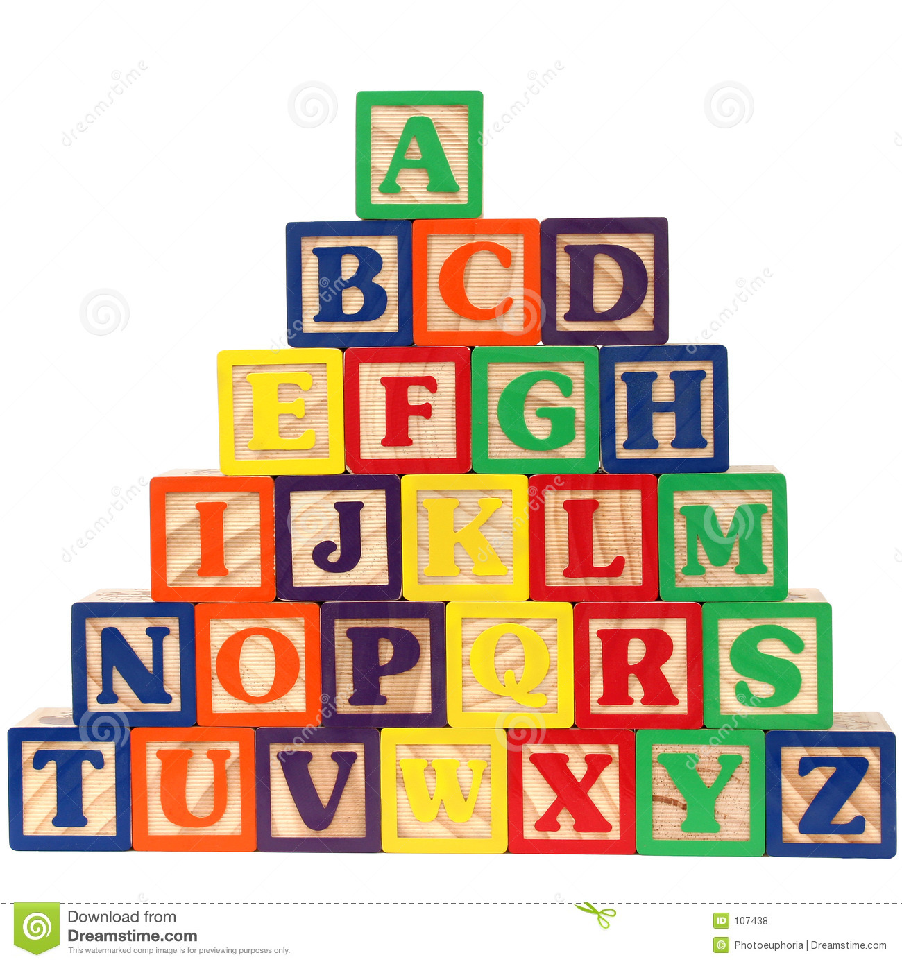 Toy Names A Z : Abc blocks a z stock illustration of