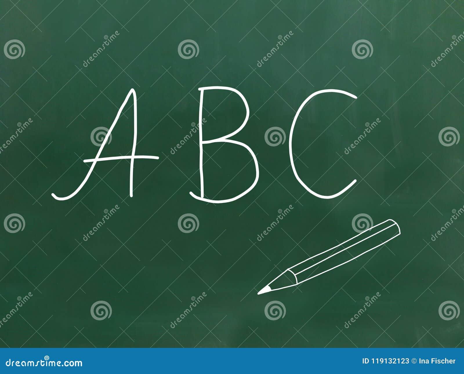 Abc - Bokstäver på en svart tavla