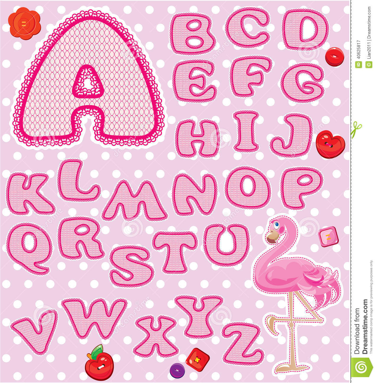 ABC - Childish Alphabet - Letters Are Made Of Pink Stock ...