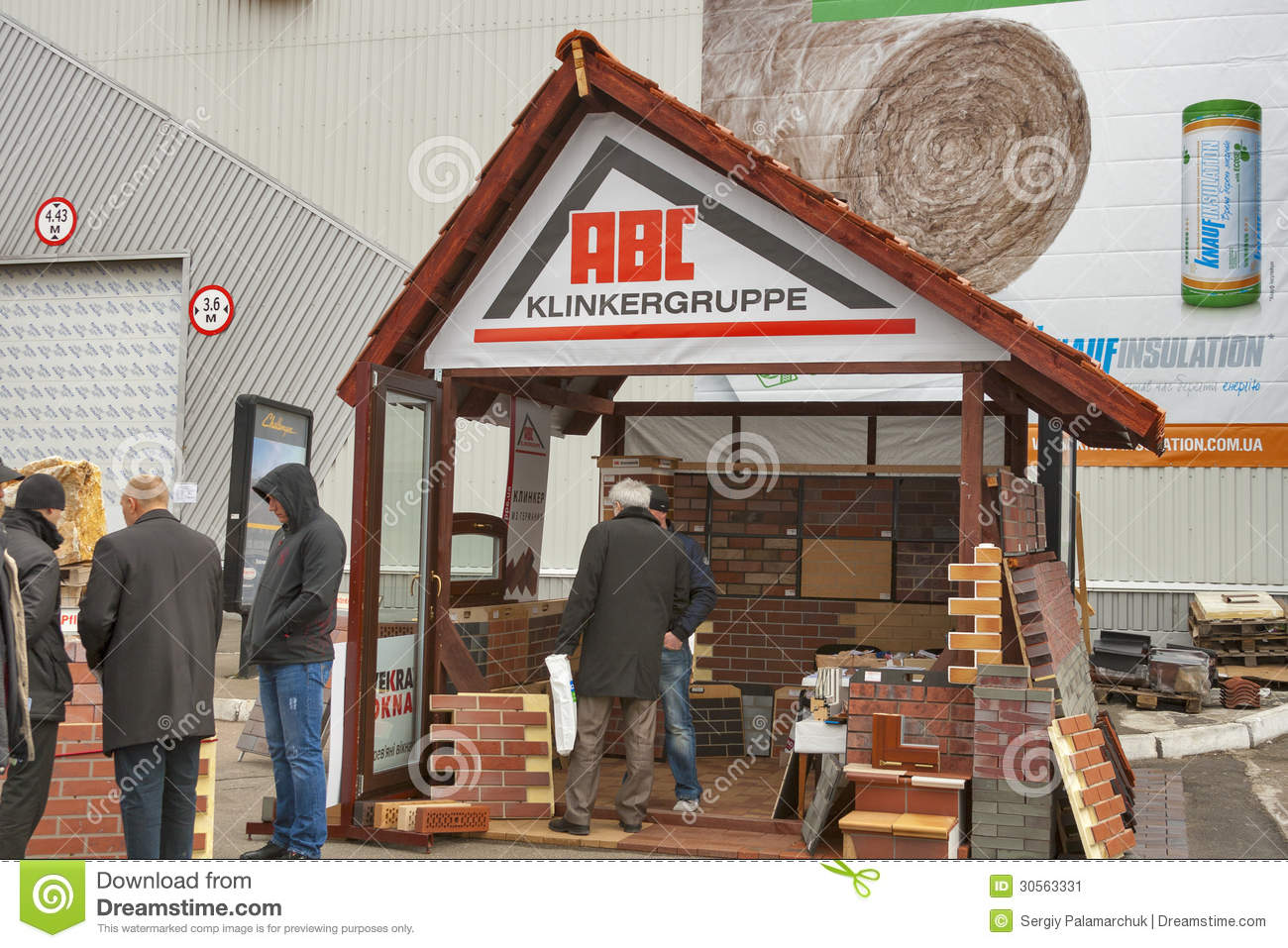 Clinker Building Products : Abc clinker group german company booth editorial photo