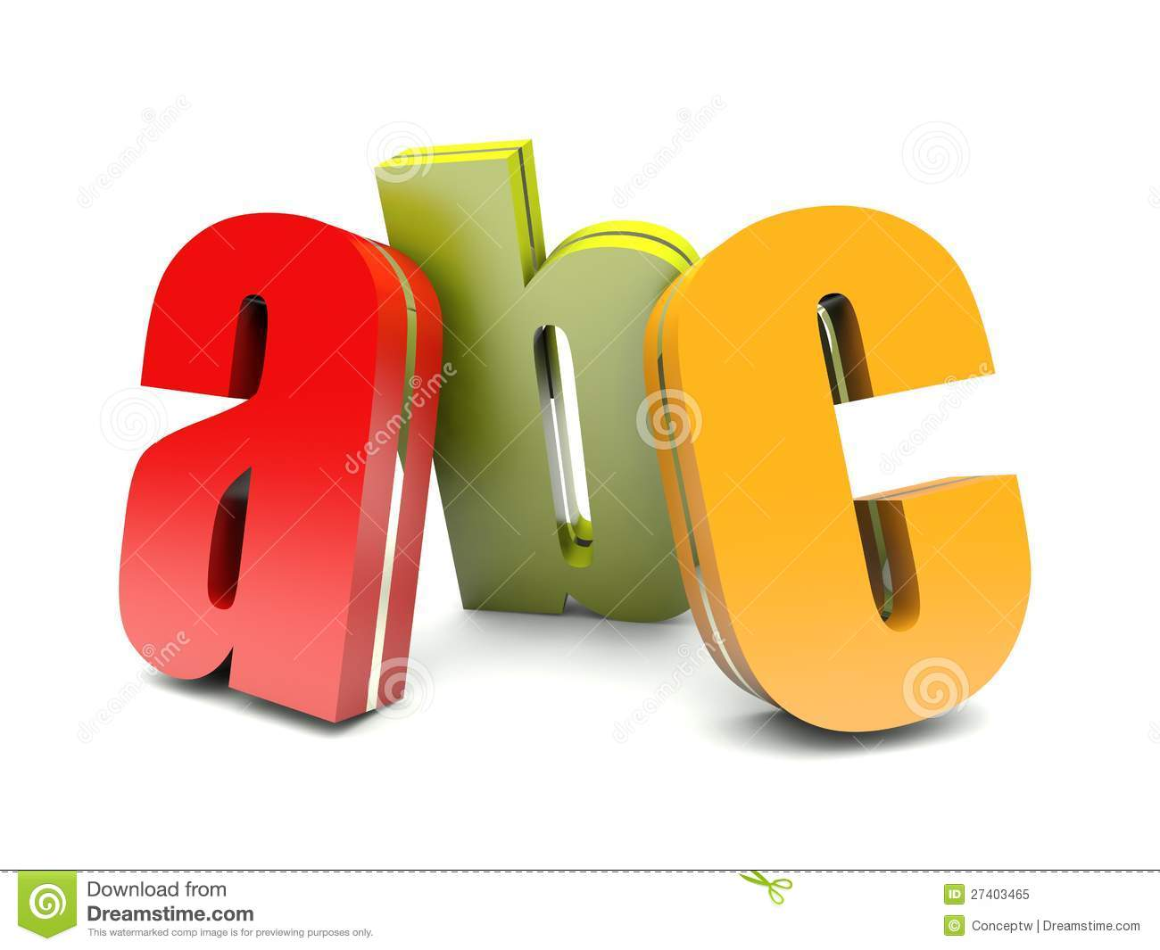 abc colorful letters royalty free stock photo