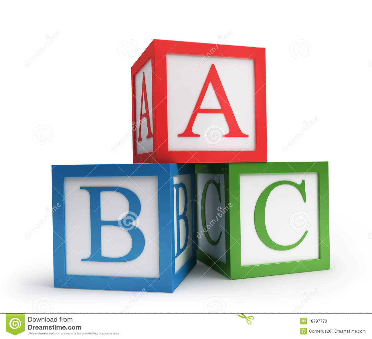 Abc cubes stock illustration. Image of alphabetical ...