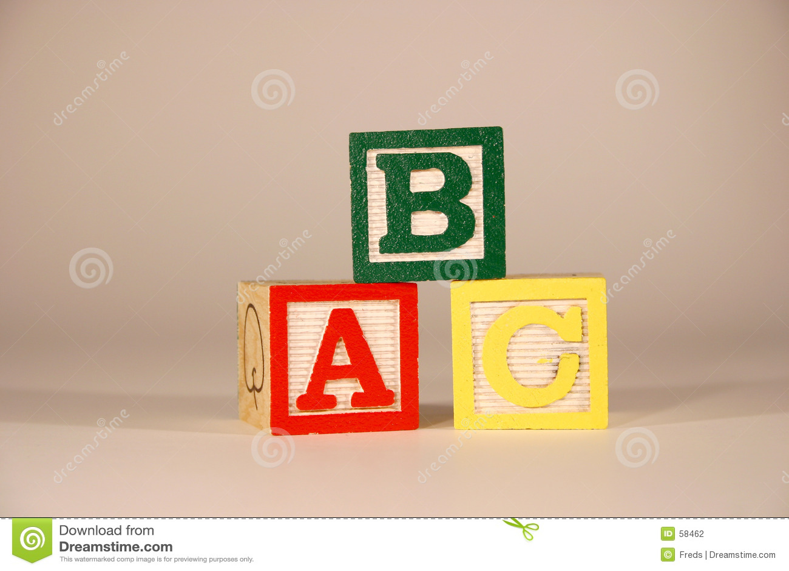 ABC de tres cubos