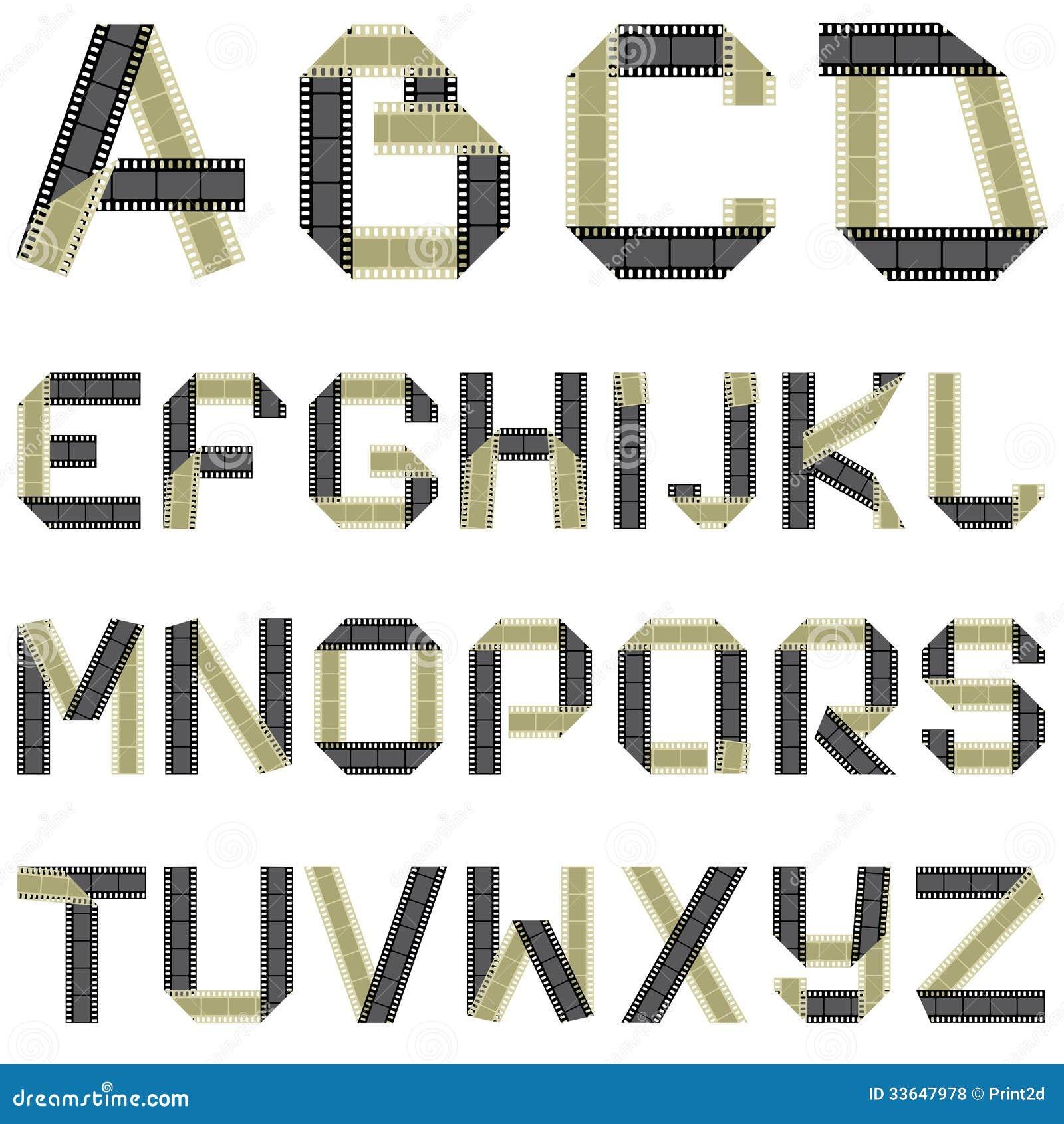 abc film tape stock illustration image of decoration 33647978. Black Bedroom Furniture Sets. Home Design Ideas