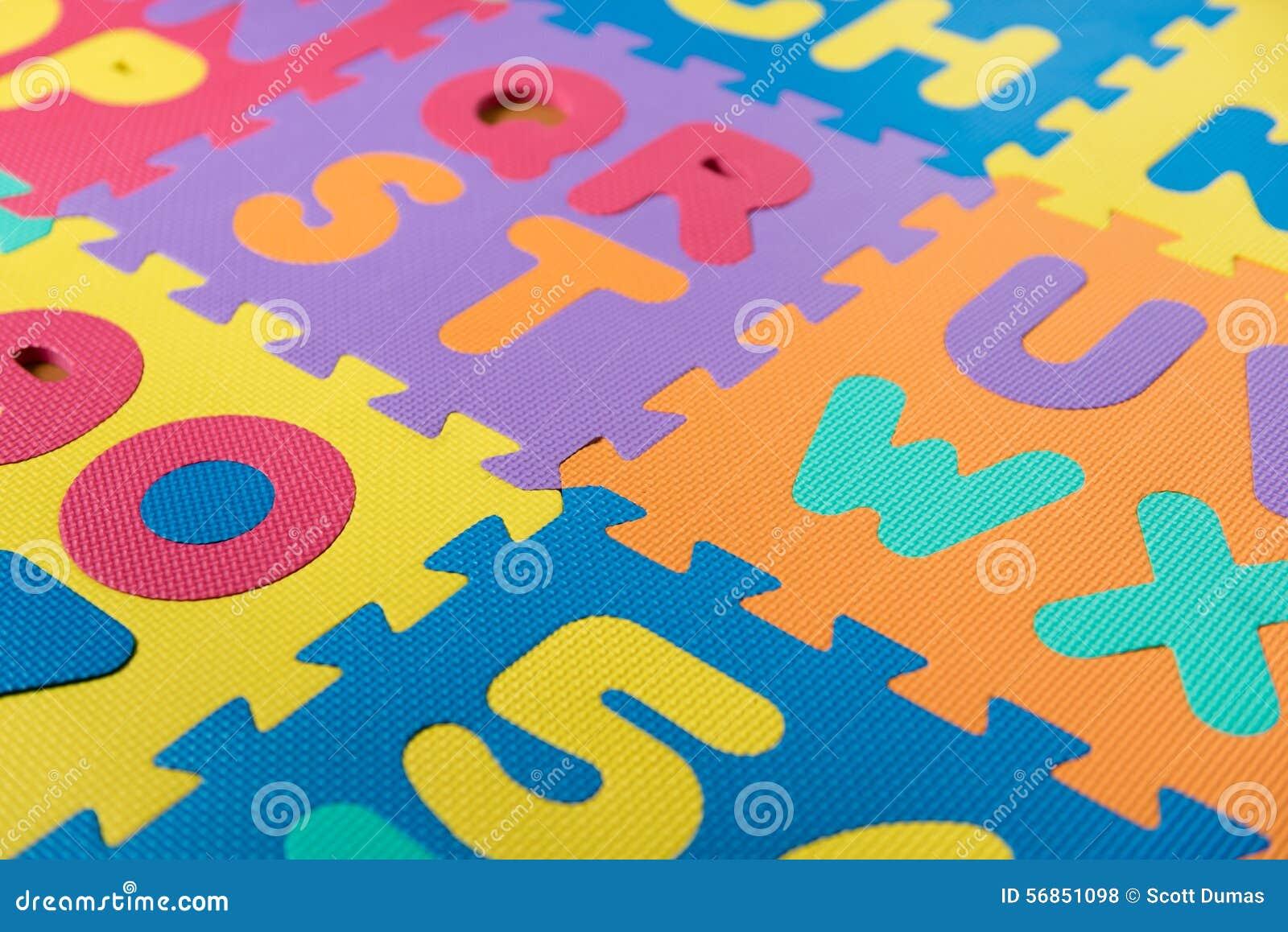 Abc Foam Puzzle Stock Photo Image 56851098