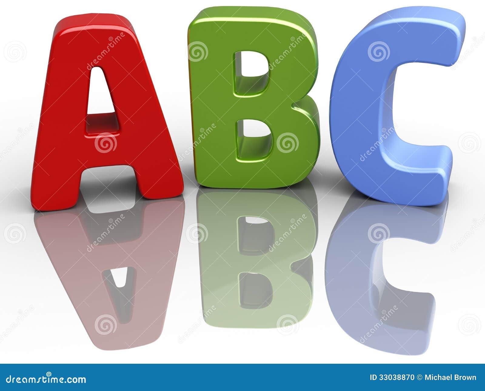 abc font alphabet education letters stock illustration