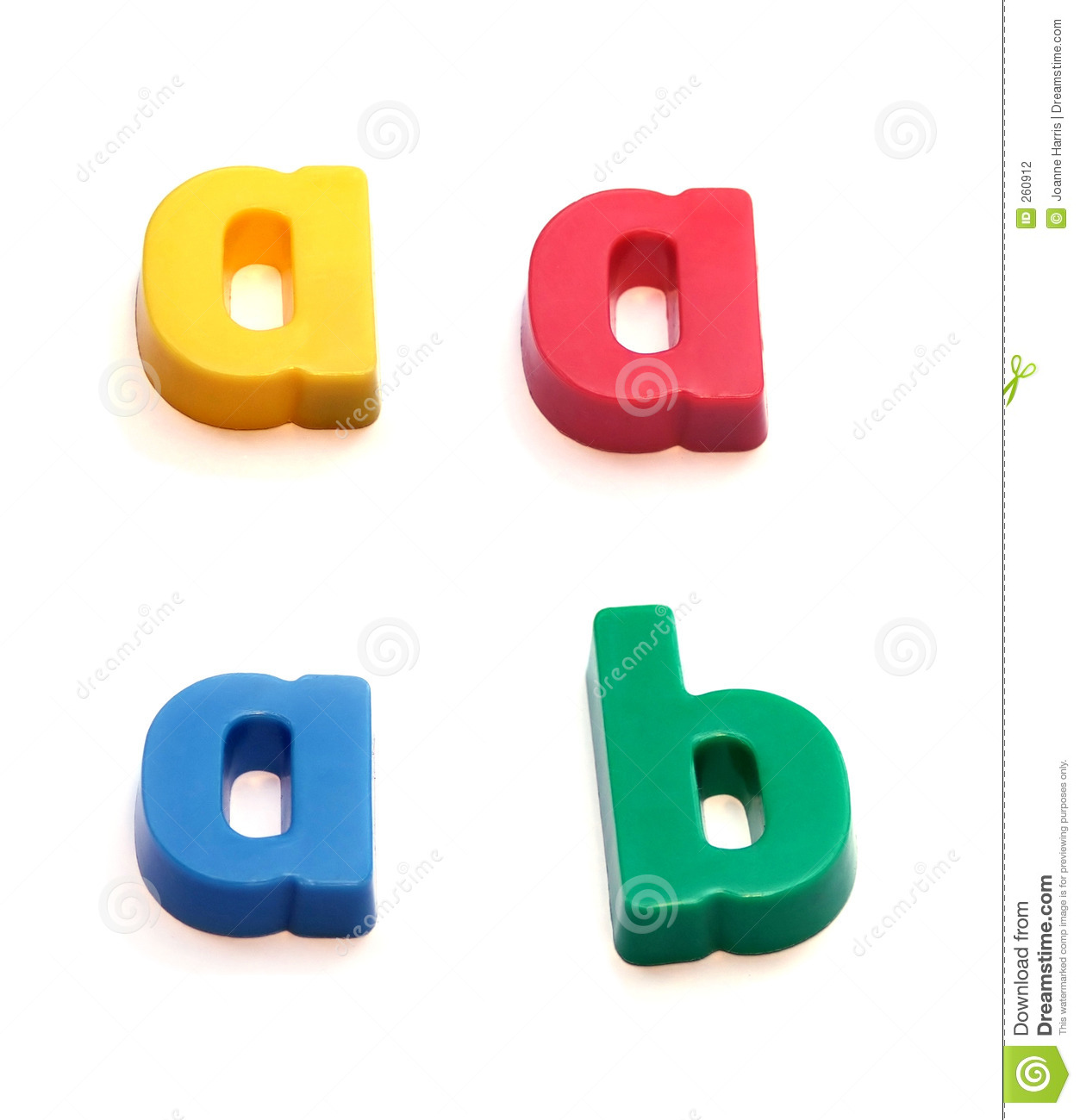 ABC fridge magnets - letters a (in three colors) and b. Mix and Match ... Happy Child Clipart