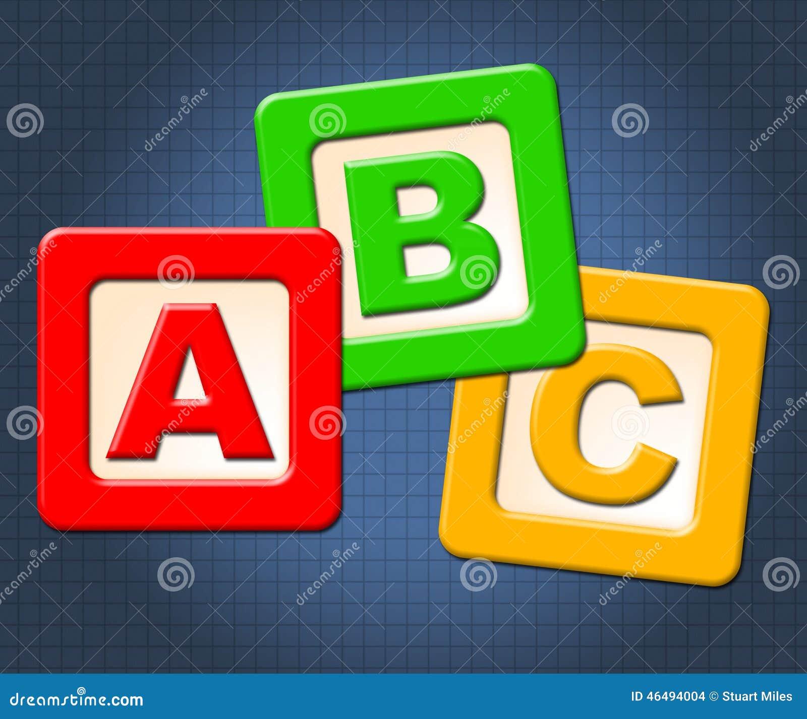 Abc I Abecadłowy Żartujemy bloków sposobów abecadła listy