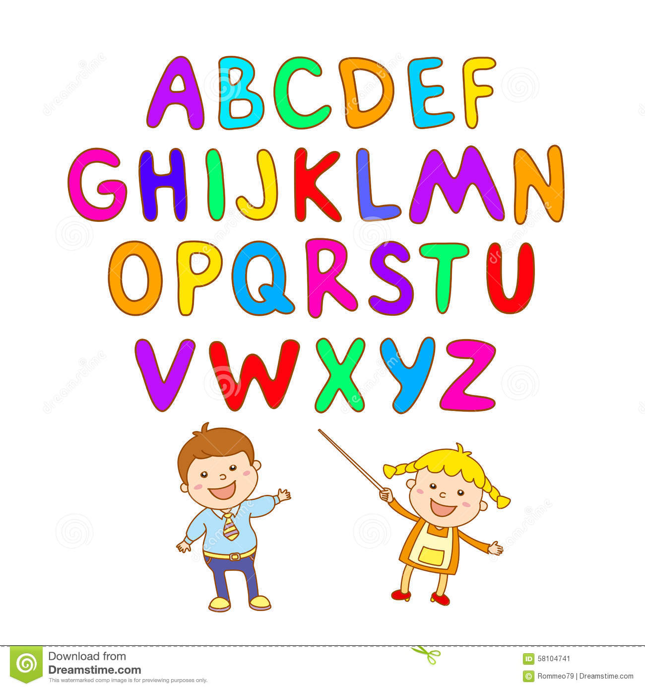 Abc For Kids Alphabet  Illustration  Vector  Kids