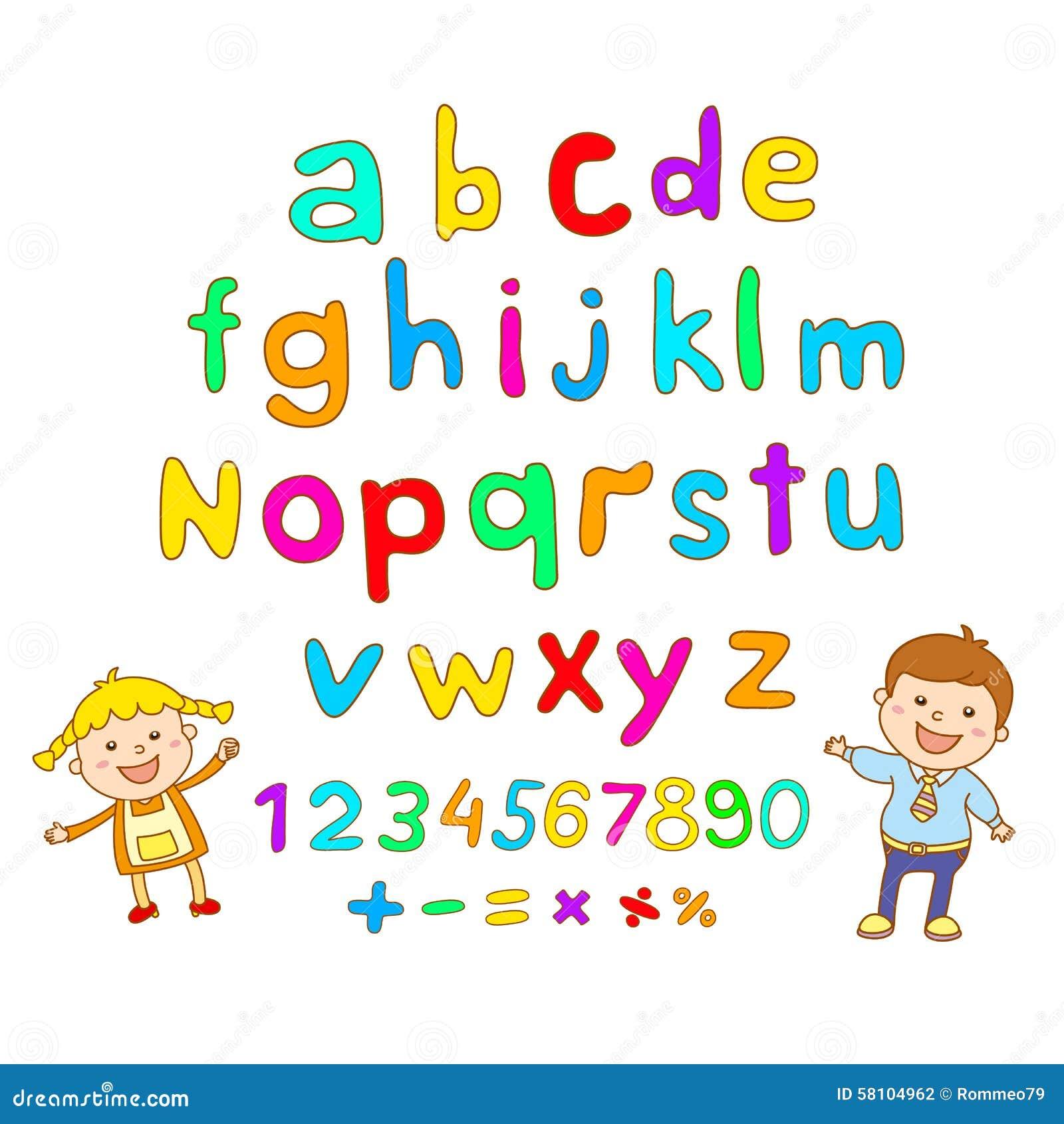 ABC For Kids Art Alphabet Illustration Vector Children Fun