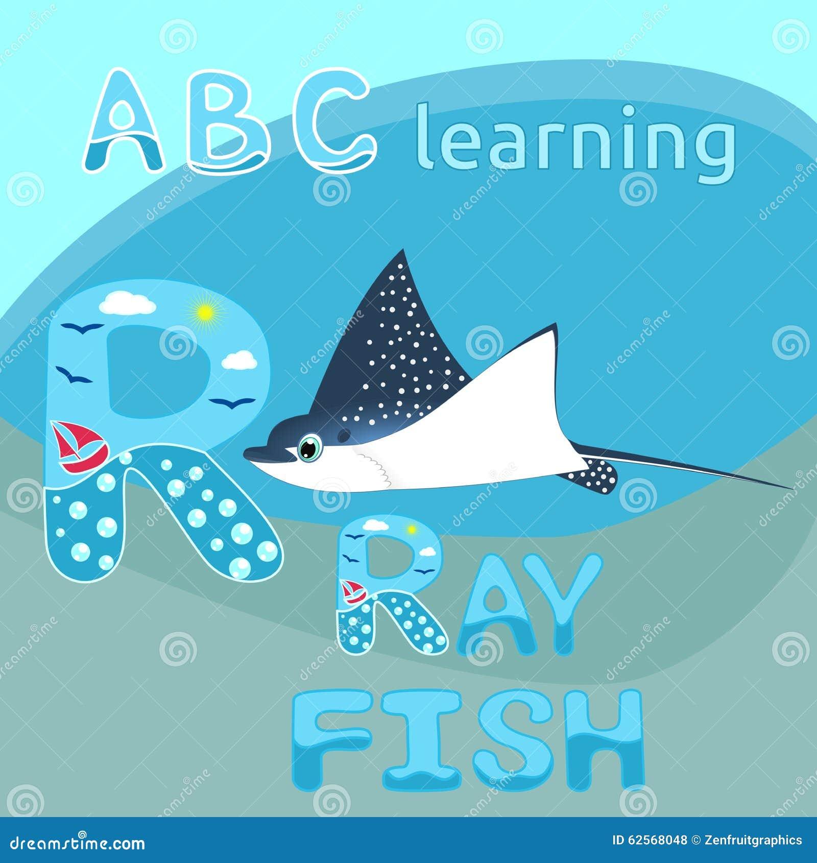 Blue Fish  Letters