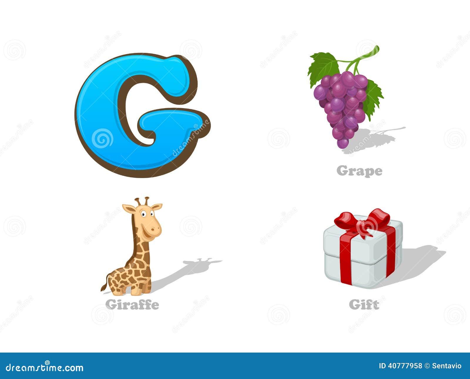 abc letter g funny kid icons set grape  giraffe  gift stock vector image 40777958 horse clip art images free horse clip art images free